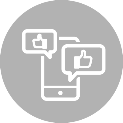 Mobile device and like-buttons representing social media
