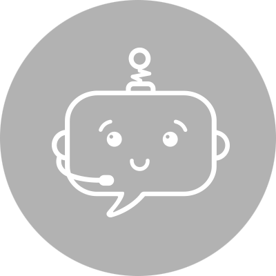 Smiley with microphone representing chatbots